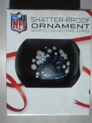 NFL Licensed Carolina Panthers Shatter-Proof Plastic Ornament