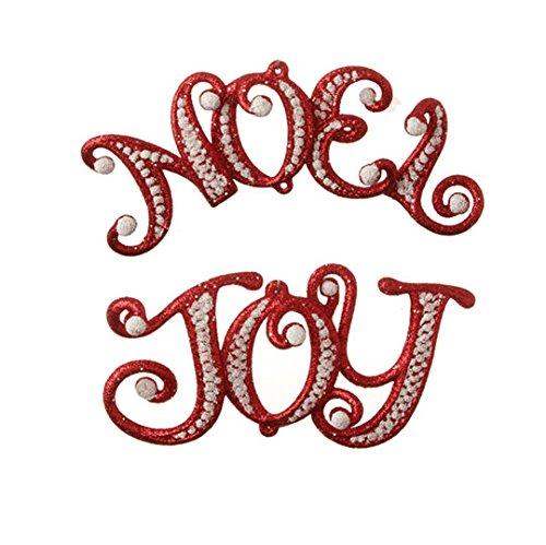 RAZ Imports – 6″ Joy & Noel Ornaments – Set of 2