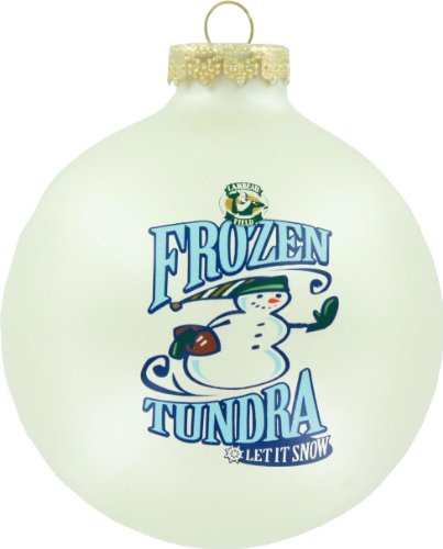 Green Bay Packers Round Ornament – Frozen Tundra