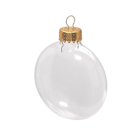 Bulk Buy: Darice DIY Crafts Glass Ornament Clear Disc 3-1/8 inches 6 pieces per box (24-Pack) 2610-57