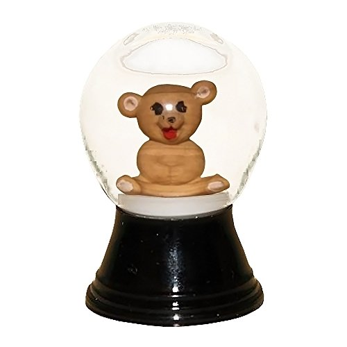 Alexander Taron Perzy Snowglobe, Mini Teddy Bear – 1.5″H x 1″W x 1″D