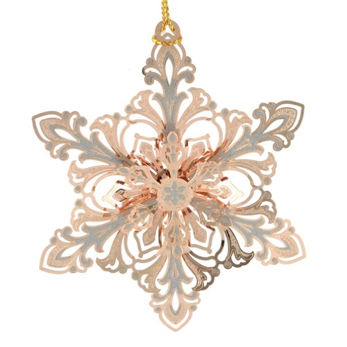 ChemArt Gleaming Snowflake Ornament