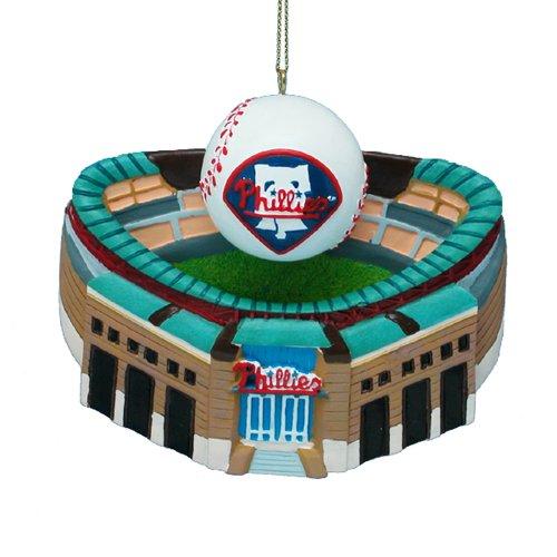 Kurt Adler 3-3/4-Inch Philadelphia Phillies Citizens Bank Park with Baseball Ornament