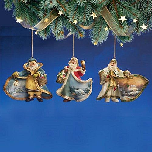 Thomas Kinkade Old World Victorian Santas Ornament Set Issue #15