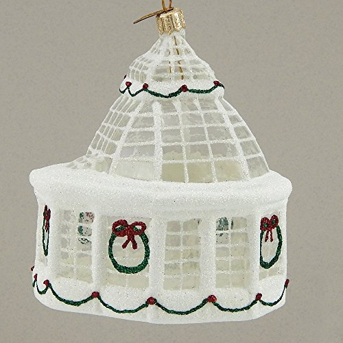 Mattarusky Winter Conservatory Glittered Glass Ornament