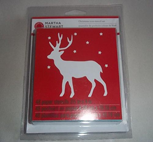Martha Stewart Christmas Stencil Icon Set