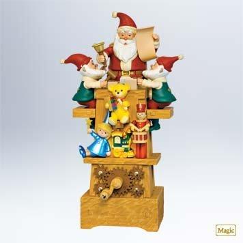 2011 Hallmark SANTA'S JOLLY WORKSHOP Christmas Table Decoration– Very RARE!!!