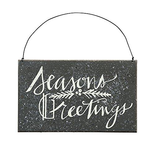 Seasons Greetings – Door Wall Hanging Cottage Wood Sign