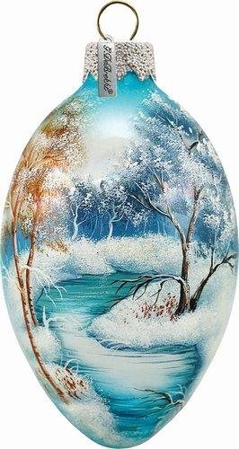 Winter Forest Egg Ornament