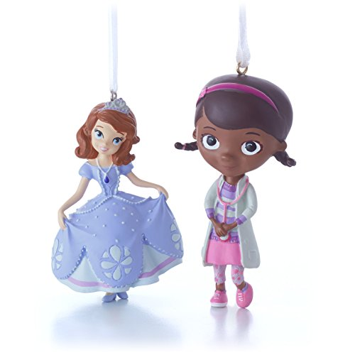 Hallmark Disney Princess Sofia and Doc McStuffins Christmas Ornaments, Set of 2