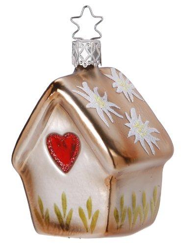 Inge-Glas Alpine Bird Haus Christmas Ornament