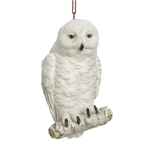 Midwest White Snowy Owl Christmas Ornament