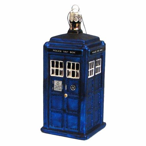 Kurt Adler Doctor Who Tardis Figural Christmas Ornament