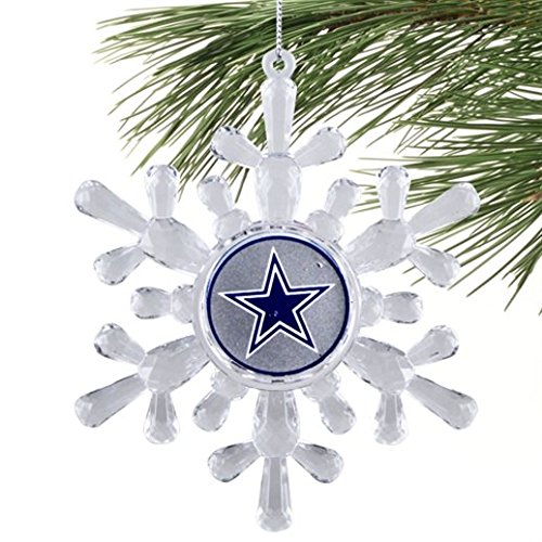 Classic Team Logo Snowflake Ornaments (Small, Dallas Cowboys)