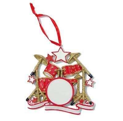 Red and Gold Drumset Ornament