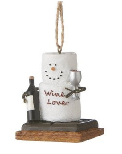 Chocolate Shop S'mores Wine Lover Christmas Ornament
