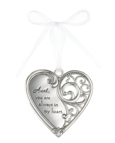 """Aunt, you are always in my heart"" Always In My Heart Filigree Ornament"
