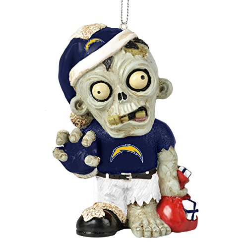 NFL 2014 Zombie Christmas Hanging Ornament 4″ (San Diego Chargers)