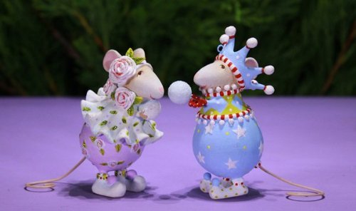 Patience Brewster Dashaway Snow Ball Mice Ornament Set 08-30916
