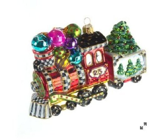 MacKenzie Childs Glass Ornament – Wonderland Express