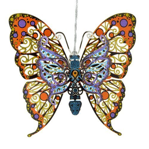 ChemArt 3.25″ Collectible Keepsakes Vibrant Butterfly Christmas Ornament