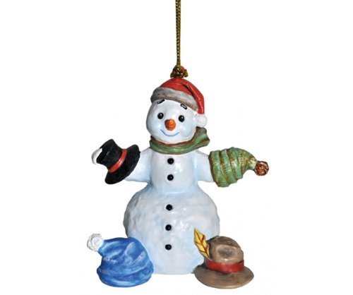 3″ Snowfall Valley What Should I Wear Today Snowman with Hats Christmas Ornament
