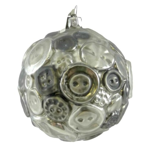 Holiday Ornament BUTTON BALL-BLACK 80075 Sew Quilt Notion New