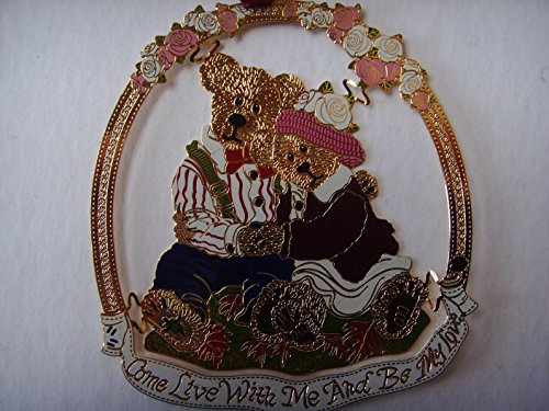 """Henry & Sarah 3″ Ornament ; """"Come Live with Me & Be my Love"""""""
