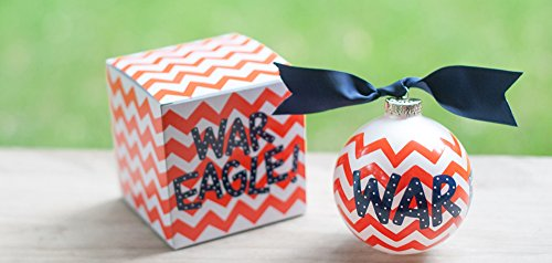 Coton Colors Auburn (AU) Chevron WAR Eagle Ornament. Any Stylish Fan Will Love This Auburn University Chevron Ornament… Go War Eagles! All Collegiate Ornaments Come Boxed and Tied with a Coordinating Ribbon Making Them the Perfect Gift for Anyone. Ornament. Any Landmark Loving Fan Will Have to Have This Auburn Toomer Roll Christmas Ornament. All Collegiate Ornaments Come Boxed and Tied with a Coordinating Ribbon Making Them the Perfect Gift for Anyone.