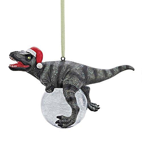 Design Toscano QS993320 Blitzer The T-Rex Holiday Ornament, Set of 2