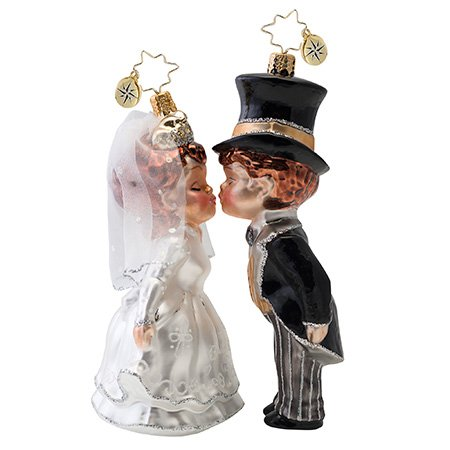 Christopher Radko Sealed With A Kiss Ornament