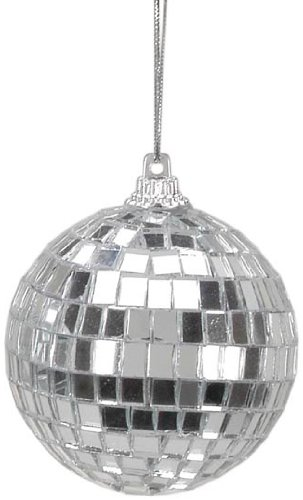 Darice 6-Piece Mirror Ornament Ball, 2.25-Inch, Silver