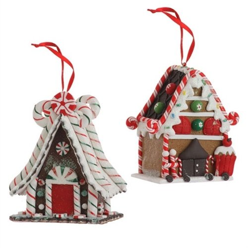 RAZ 4.5″ Gingerbread House Ornament 1pc