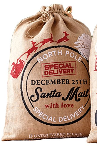 Mud Pie Burlap Christmas Sacks (Tan Sack)
