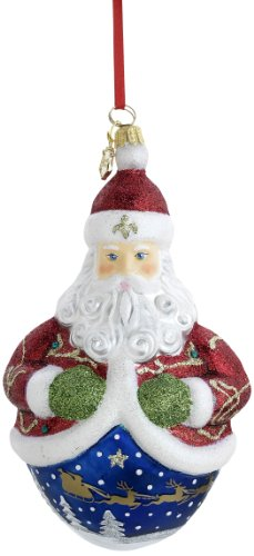 Reed & Barton St. Nickolas Egg Christmas Ornament, 6-1/2-Inch