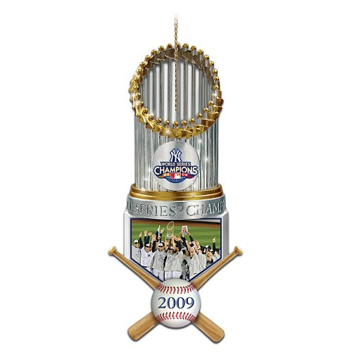 The 2009 MLB World Series Champions New York Yankees Trophy Christmas Ornament by The Bradford Exchange