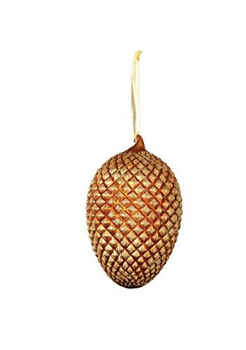Sage & Co. XAO14205GD Glass Pinecone Ornament, 5.5-Inch