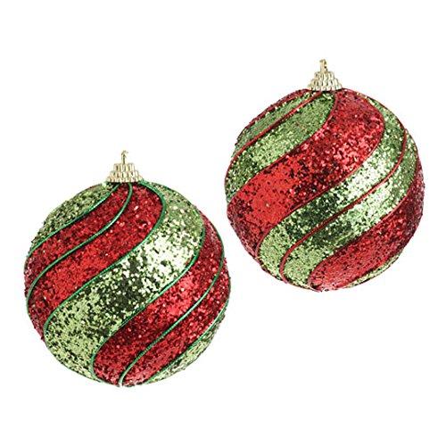 RAZ Imports 4″ Glittered Swirl Ornament