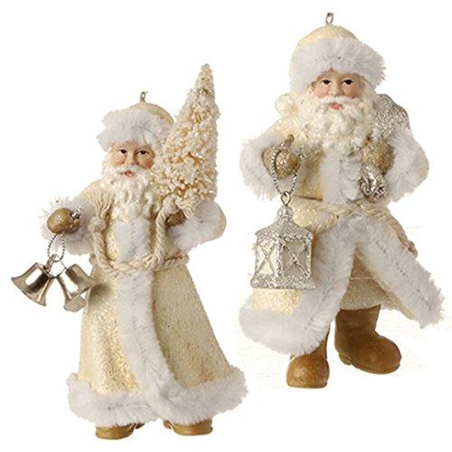 RAZ Imports – 4.5″ Santa Ornaments – Set of 2