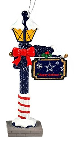 Dallas Cowboys Official NFL 5.7 inch x 3 inch Street Lamp Christmas Ornament