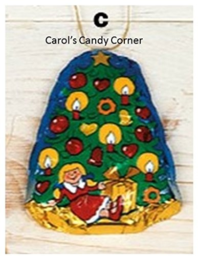Storz Chocolate Assorted Solid Milk Chocolate Christmas Tree Ornaments – 10 Pcs