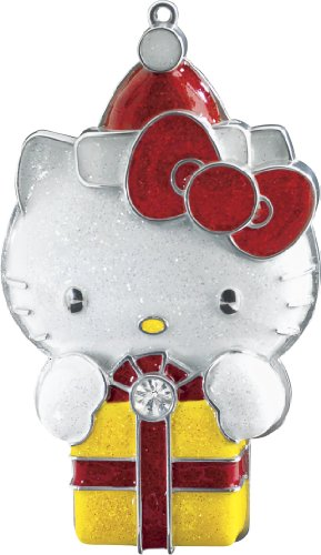 Hello Kitty With Present 2014 Carlton Heirloom Ornament