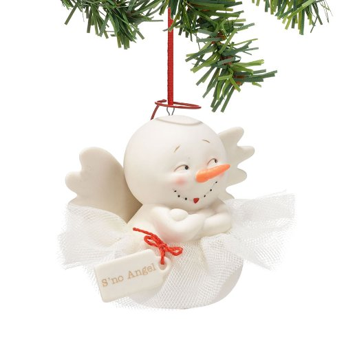 Department 56 Snow Pinions S'no Angel Ornament, 3-Inch