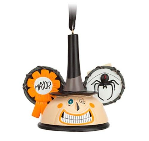 Disney Parks Nightmare Before Christmas Mayor Mickey Mouse Ears Hat Ornament
