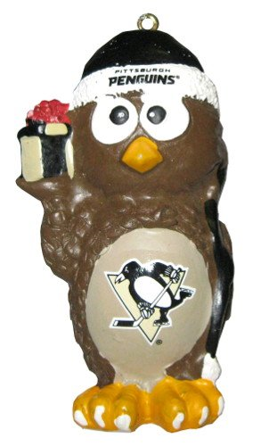 Pittsburgh Penguins NHL Hockey Holiday Owl Christmas Ornament