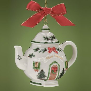 Spode Christmas Tree Signature Ornament 2003 Our New Home, Teapot House