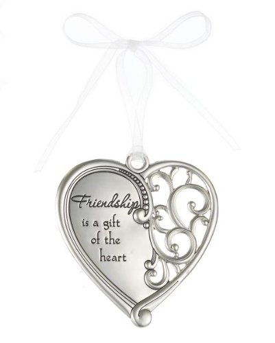 """Friendship is a gift of the heart"" Always In My Heart Filigree Ornament"