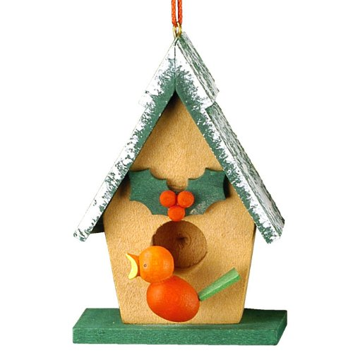 Christian Ulbricht Wooden Birdhouse Christmas Ornament