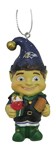 Baltimore Ravens NFL Football 2014 Resin Elf Holiday Christmas Ornament