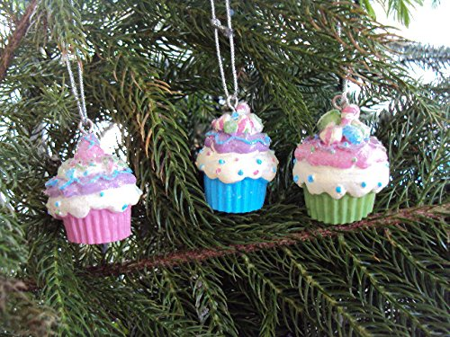 Ornament – Mini Cupcake – 1 3/8 inches – Asst